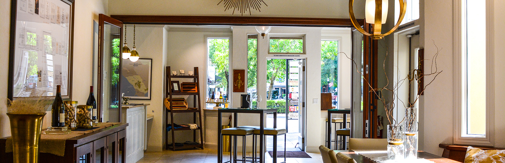 Tasting Room in Downtown Healdsburg