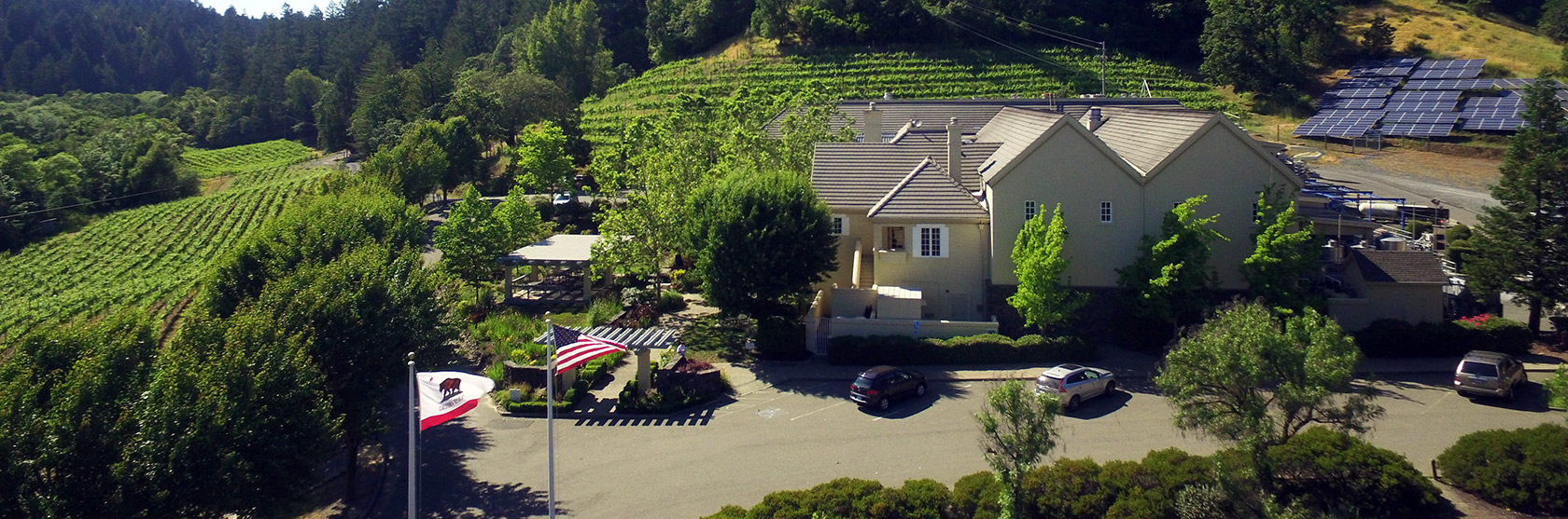 Hartford Winery from the air
